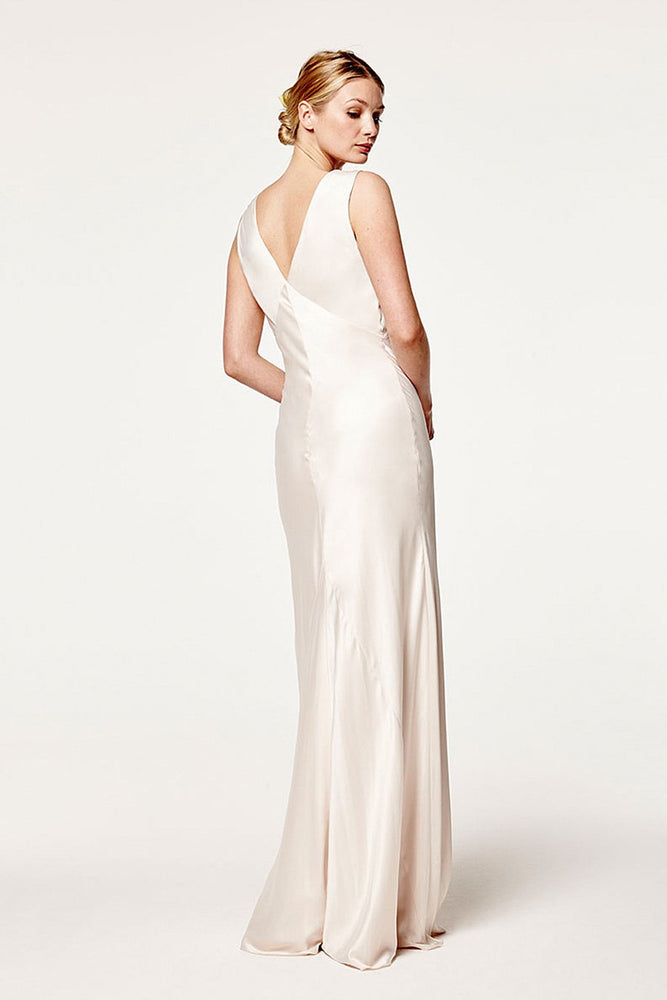Peony Cream Soda Bridesmaids Dress (Back)