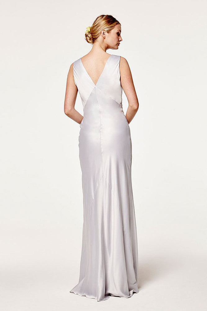 Peony Dove Grey Bridesmaids Dress (Back)