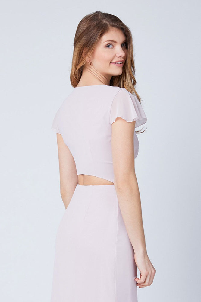 Queenie Blossom Pink Occasion Dress (Back zoom)
