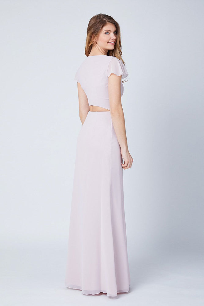 Queenie Blossom Pink Occasion Dress (Back)