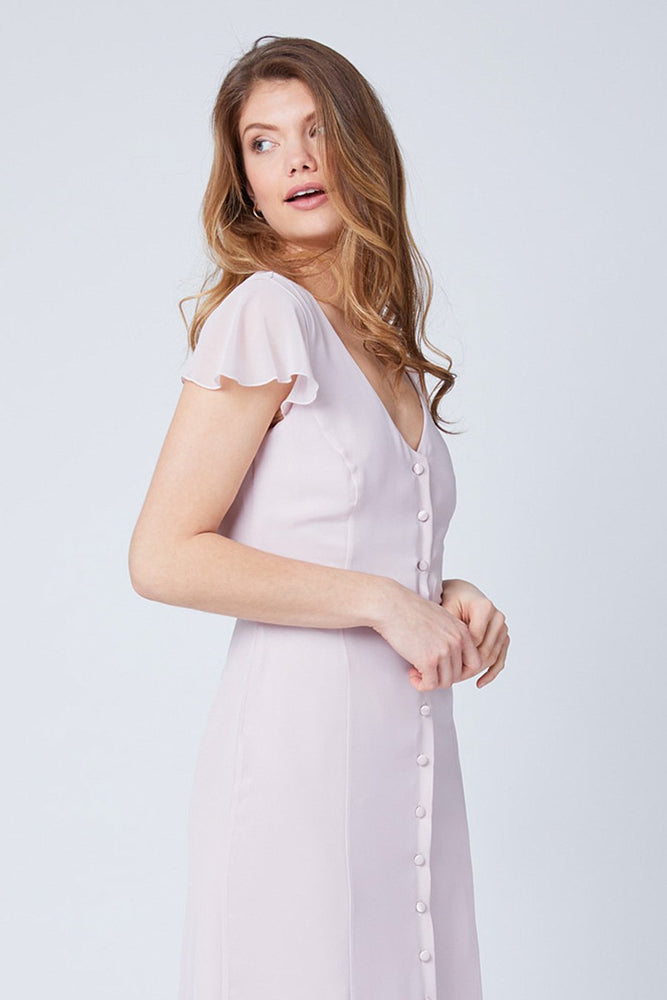 Queenie Blossom Pink Occasion Dress (Front zoom)