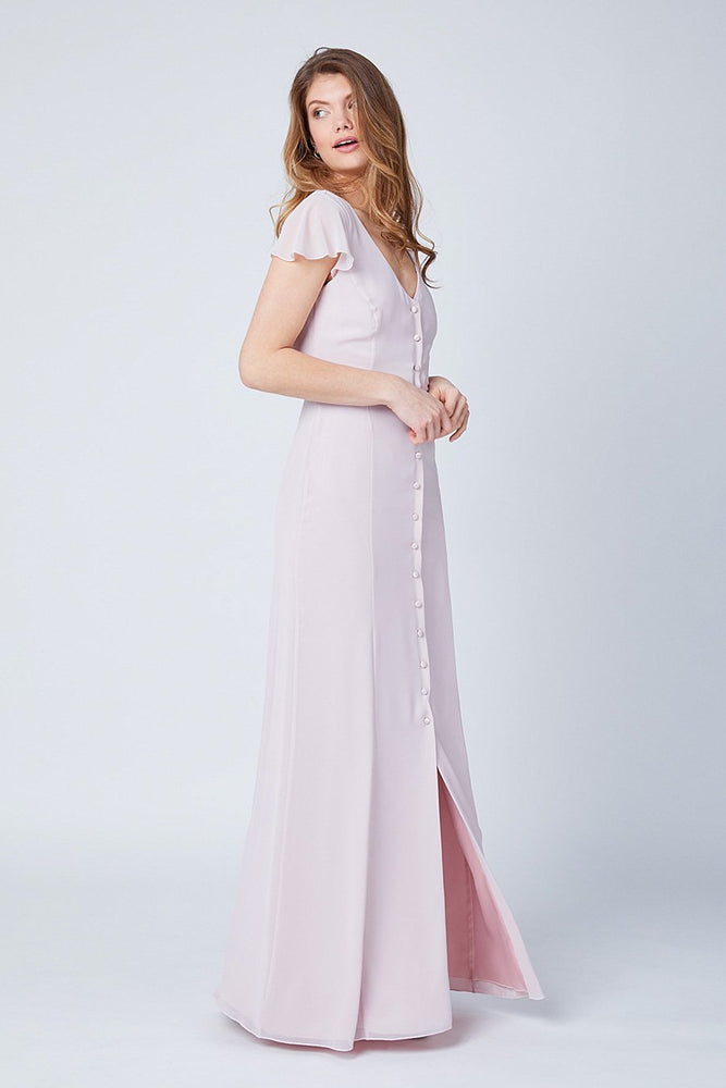 Queenie Blossom Pink Occasion Dress (Front)