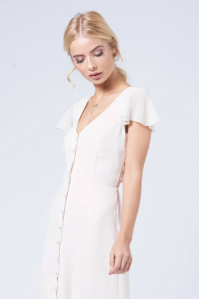 Queenie Cream Soda Occasion Dress (Front zoom)