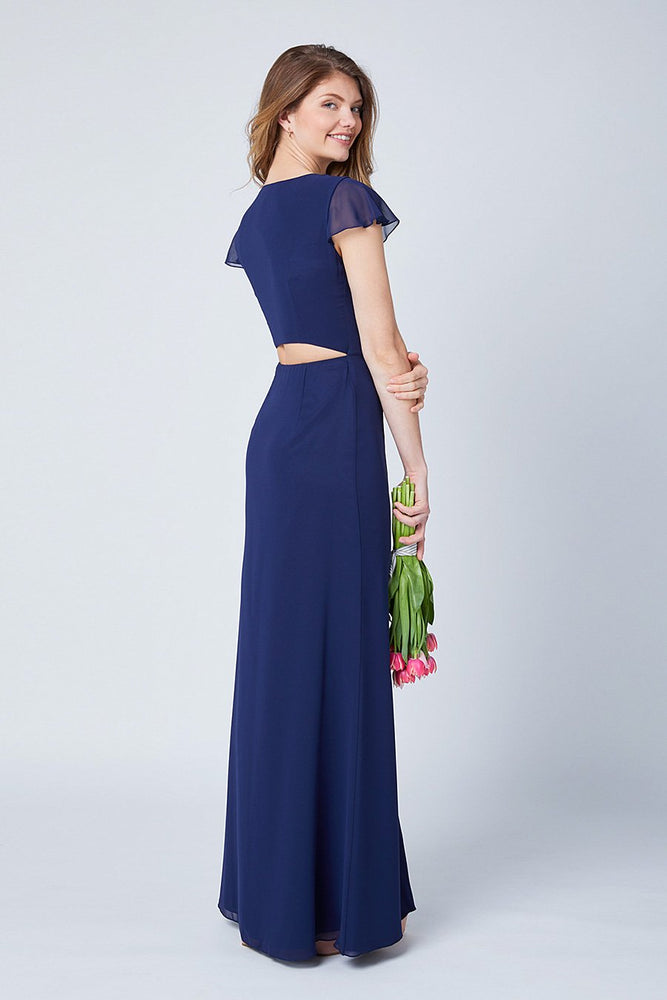 Queenie Midnight Blue Occasion Dress (Back)