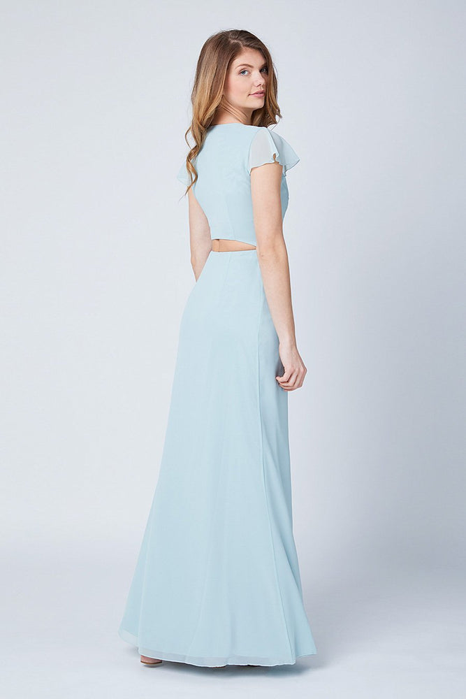 Queenie Misty Green Occasion Dress (Back zoom)