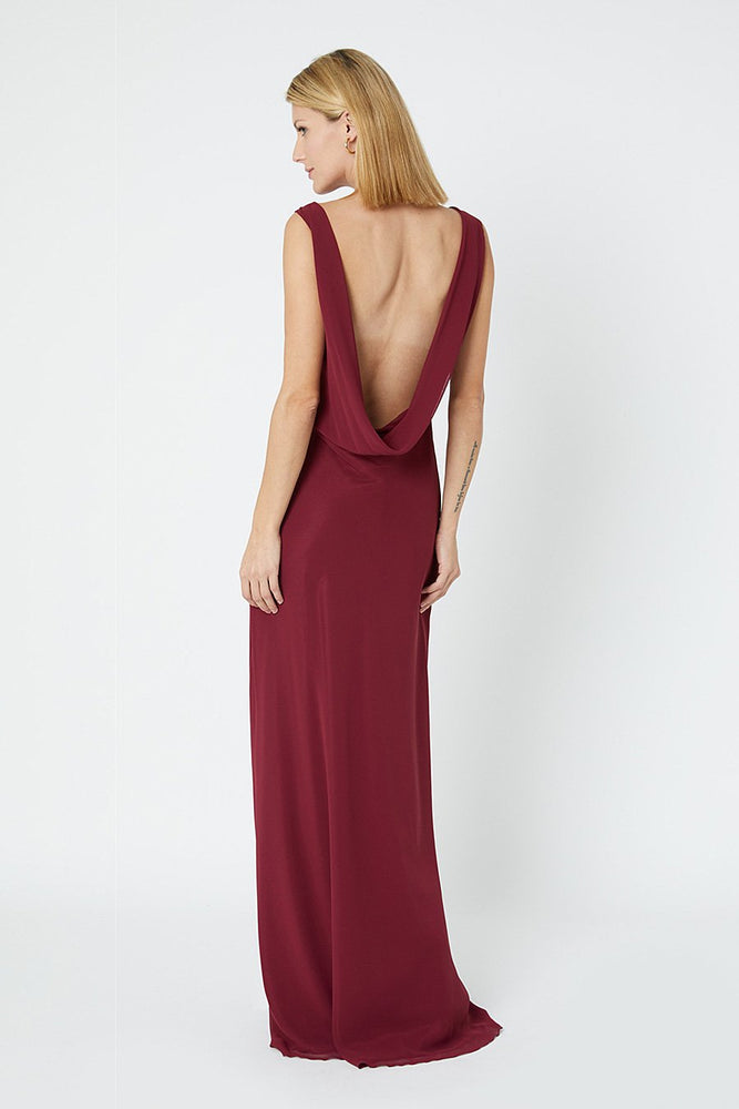 Regent Burgundy Red Occasion Dress (Back)