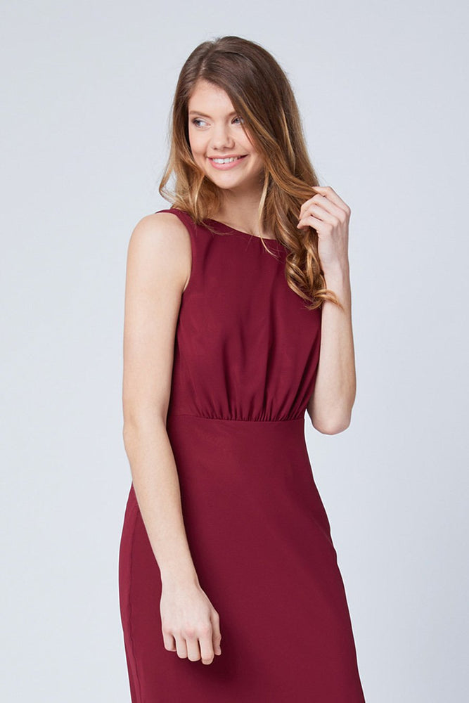Regent Burgundy Red Occasion Dress (Front zoom)