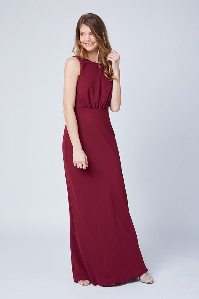 Regent Burgundy Red Occasion Dress (Front)