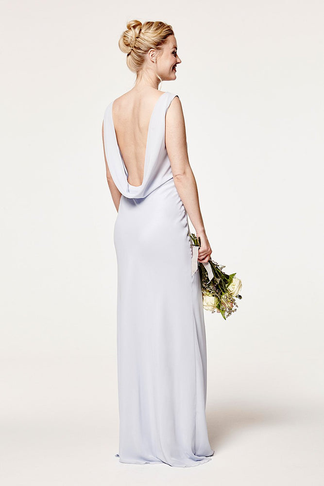 Regent Cloud Blue Occasion Dress (Back zoom)