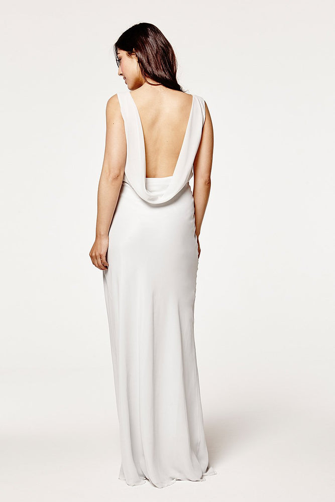 Regent Dove Grey Occasion Dress (Back zoom)