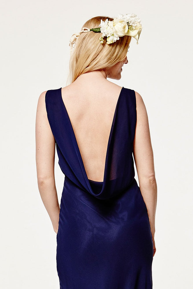 Regent Midnight Blue Occasion Dress (Back zoom)
