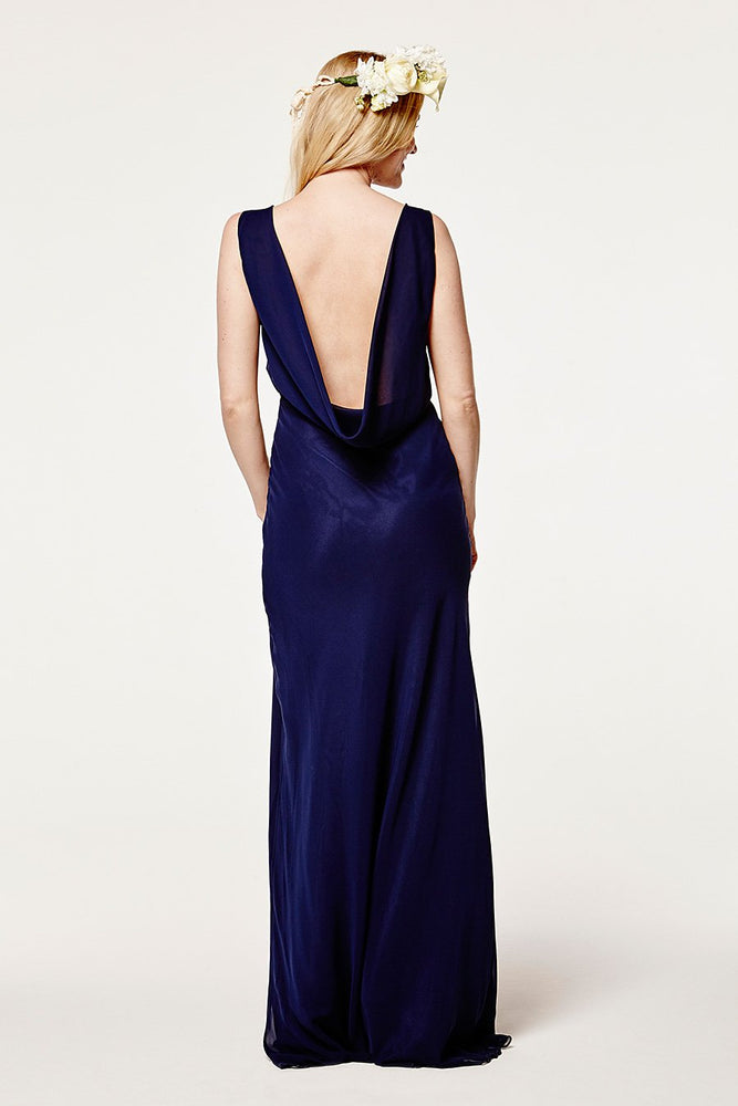 Regent Midnight Blue Occasion Dress (Back)