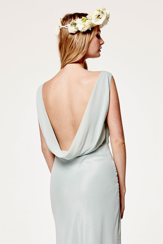 Regent Misty Green Occasion Dress (Back zoom)