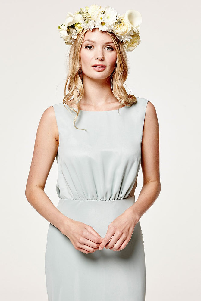 Regent Misty Green Occasion Dress (Front zoom)