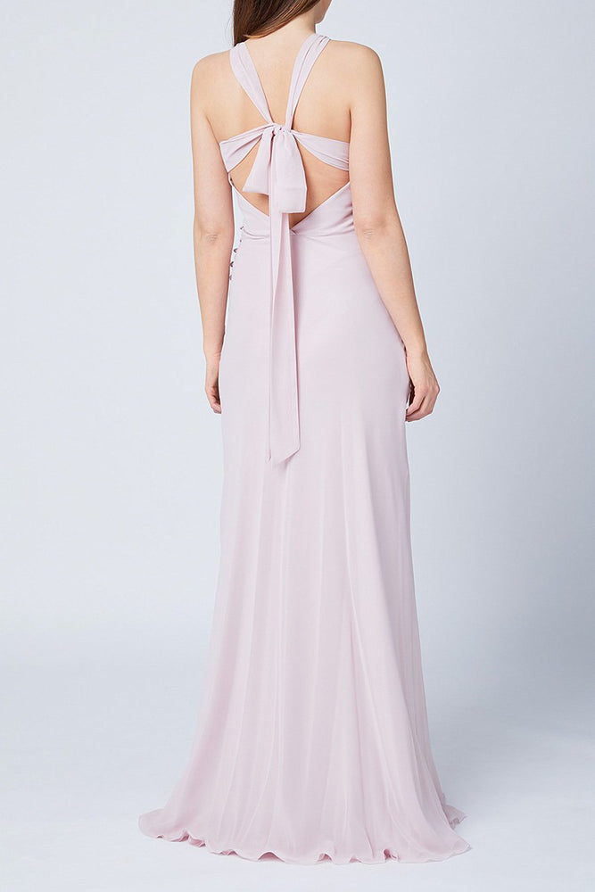 Soho Blossom Pink Bridesmaids Dress (Front Back)