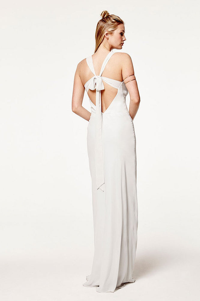 Soho Dove Grey Bridesmaids Dress (Back)