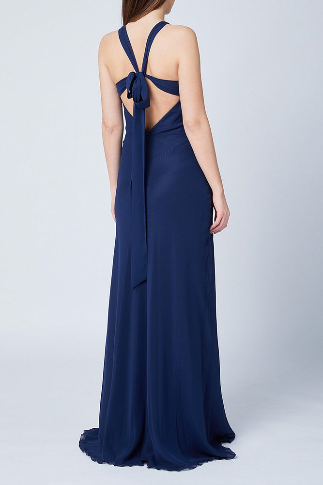 Soho Midnight Blue Bridesmaids Dress (Back)