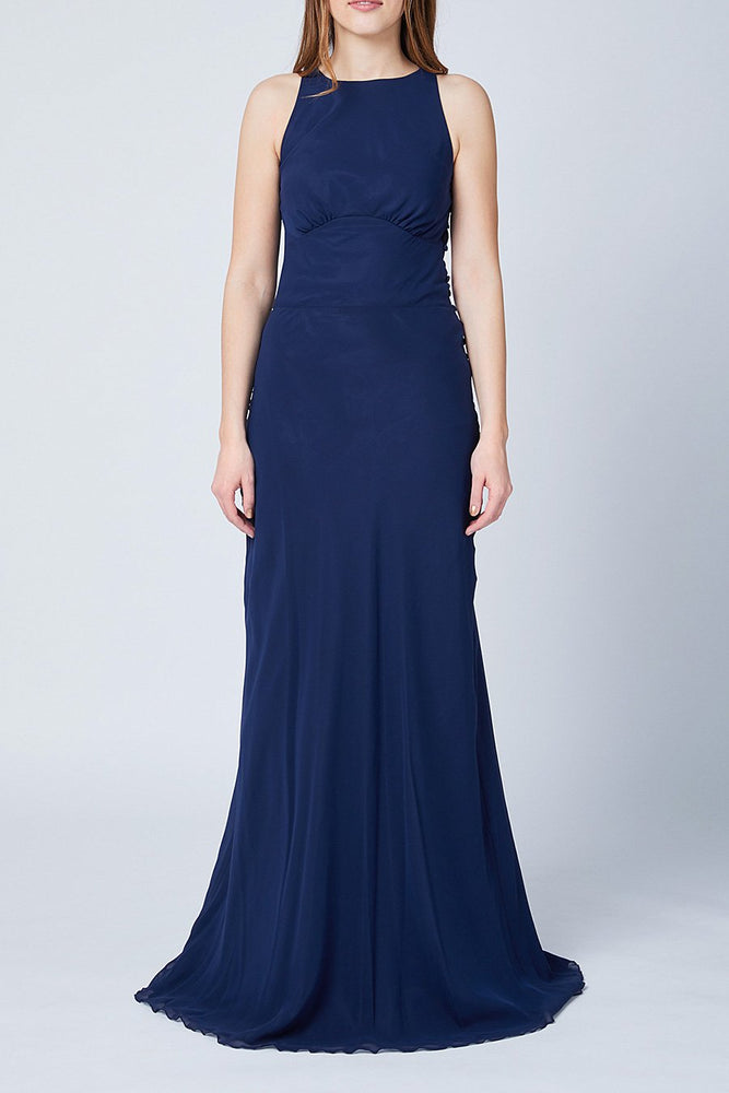 Soho Midnight Blue Bridesmaids Dress (Front)