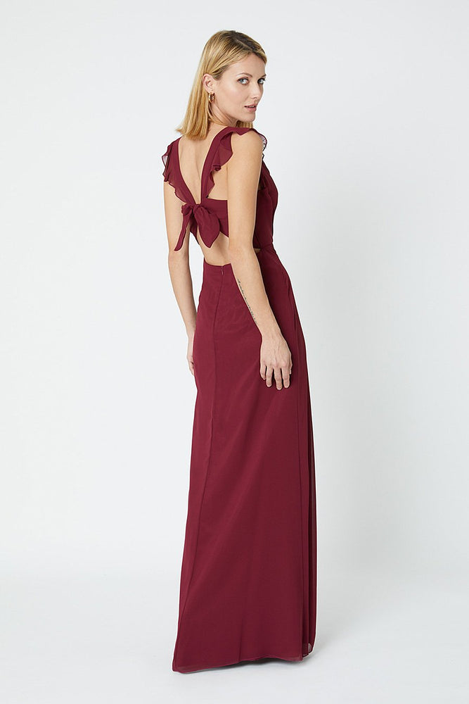 Tansy Burgundy Red Occasion Dress (Back)