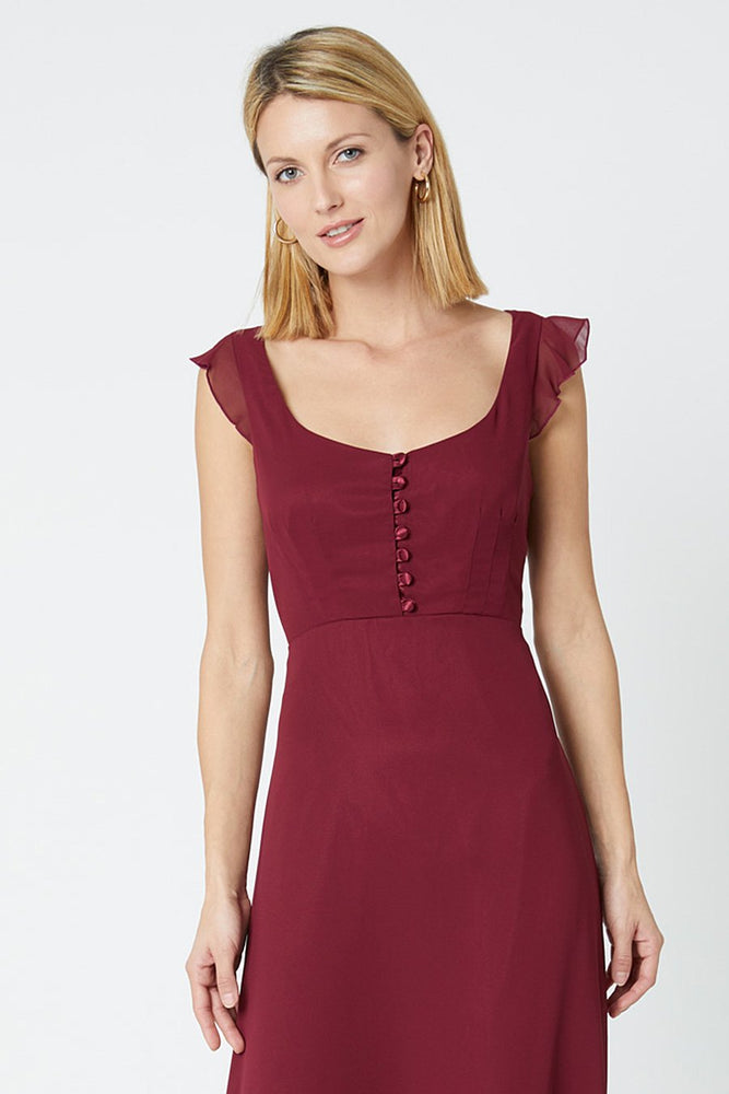 Tansy Burgundy Red Occasion Dress (Front zoom)
