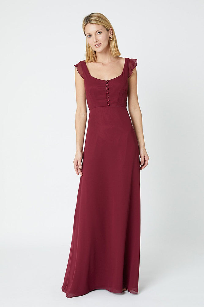 Tansy Burgundy Red Occasion Dress (Front)