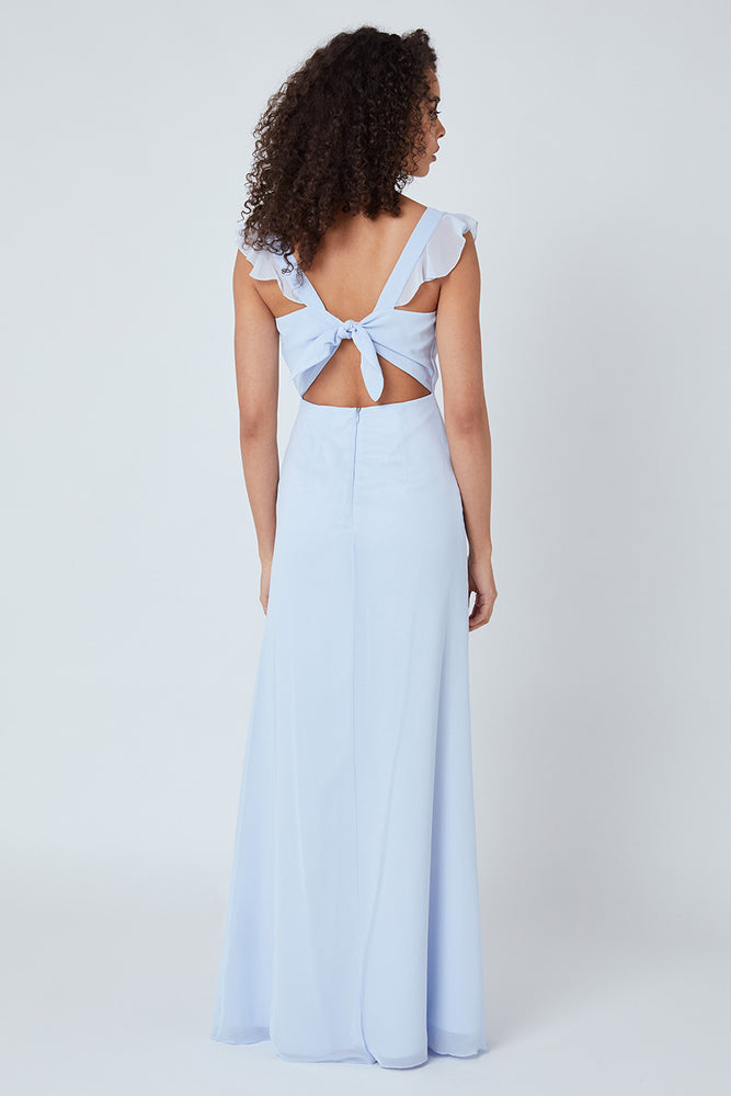 Tansy Cloud Blue Occasion Dress (Back)