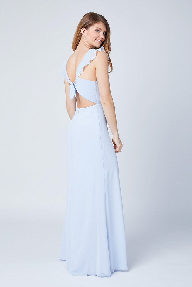 Tansy Cloud Blue Occasion Dress (Back zoom)