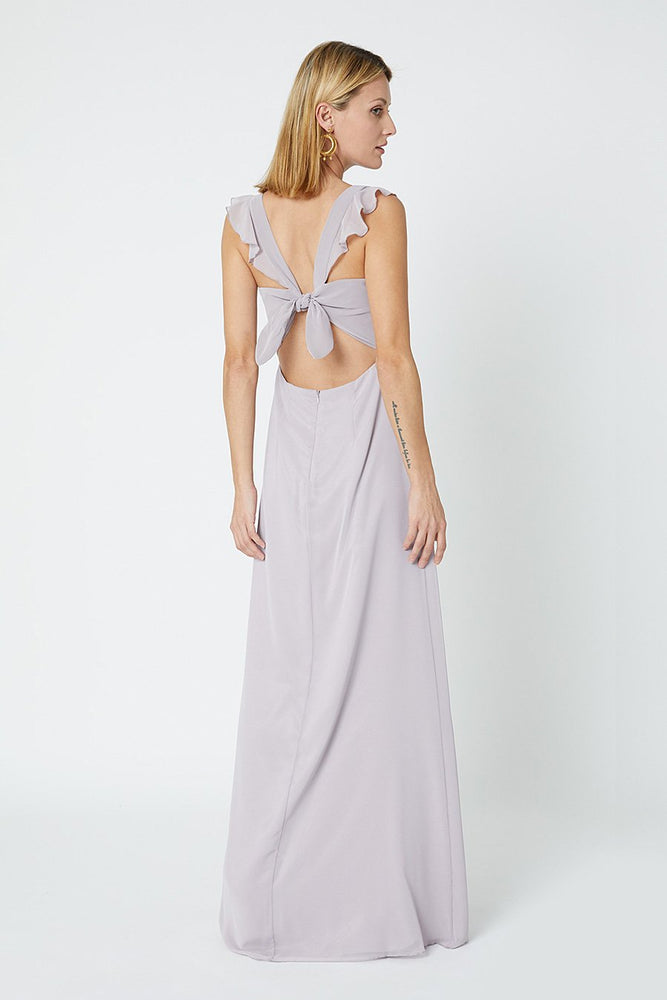 Tansy Frosted Fig Mauve Occasion Dress (Front)