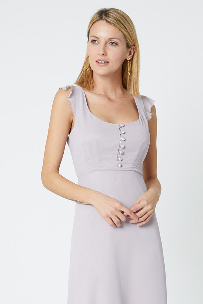 Tansy Frosted Fig Mauve Occasion Dress (Front zoom)