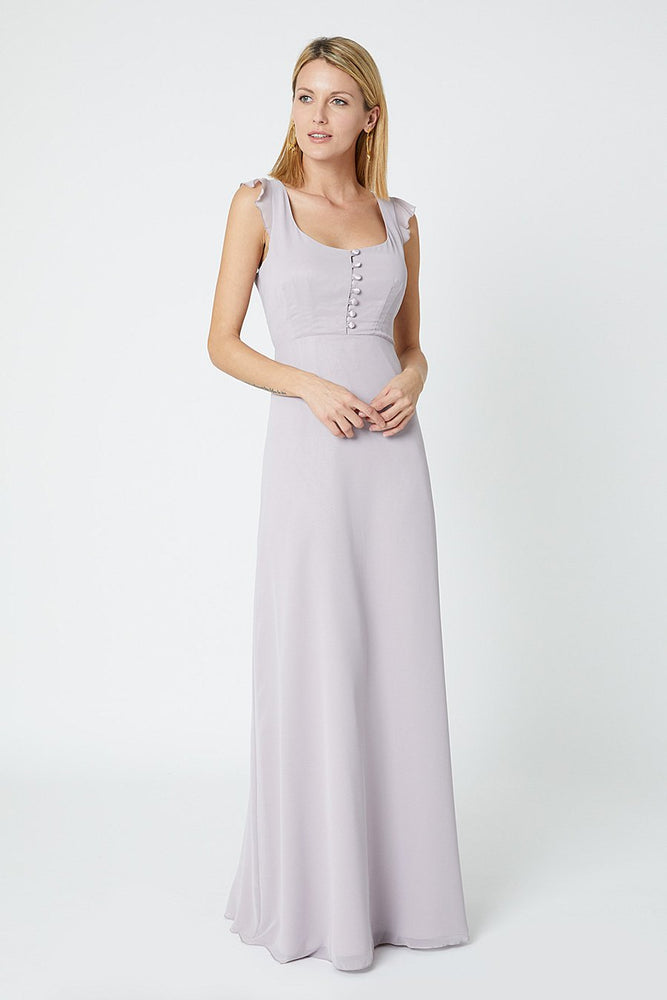 Tansy Frosted Fig Mauve Occasion Dress (Back)