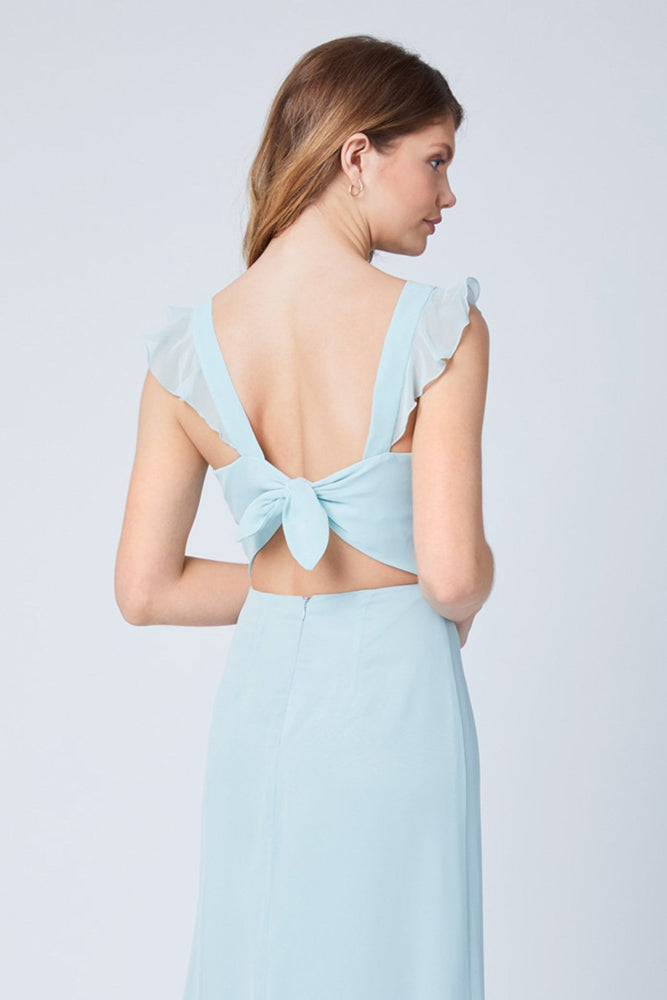 Tansy Misty Green Occasion Dress (Back zoom)