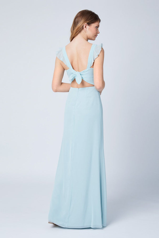 Tansy Misty Green Occasion Dress (Back)