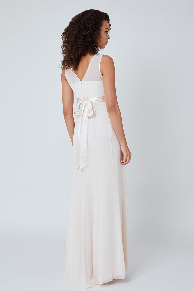 Charlotte Floaty Cream Soda Bridesmaids Dress (Back zoom)