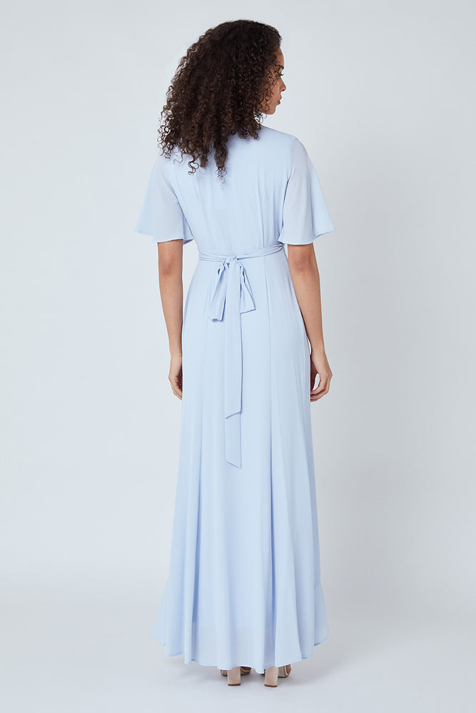 Heidi Cloud Blue Occasion Dress (Front zoom)