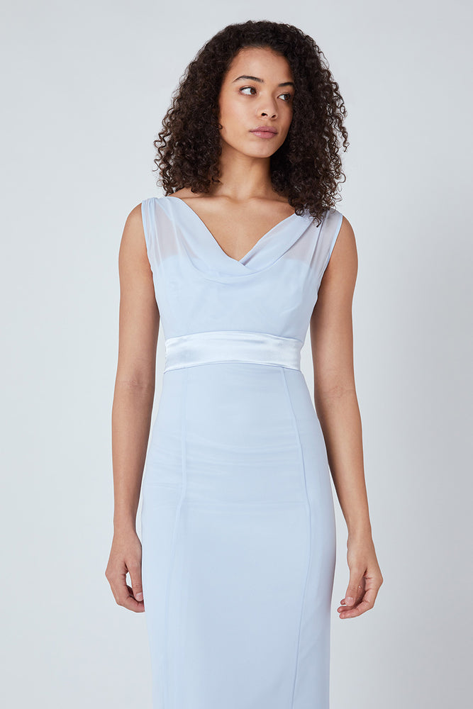 Penelope Fitted Cloud Blue Dress