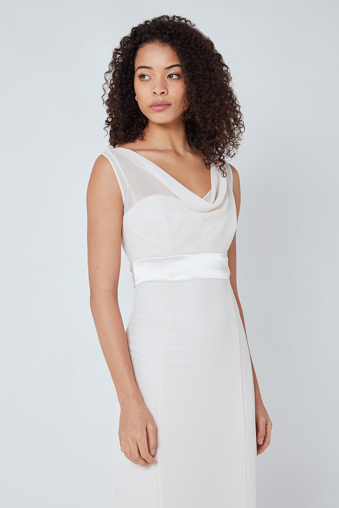 Penelope Fitted Cream Soda Dress