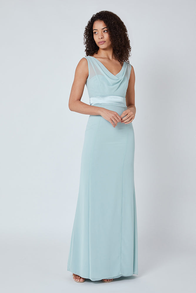 Penelope Fitted Misty Green Dress
