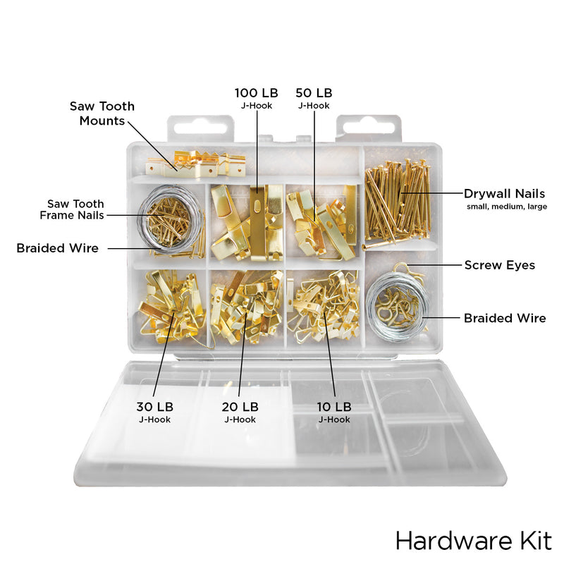 206 Piece Hanging Hardware Kit