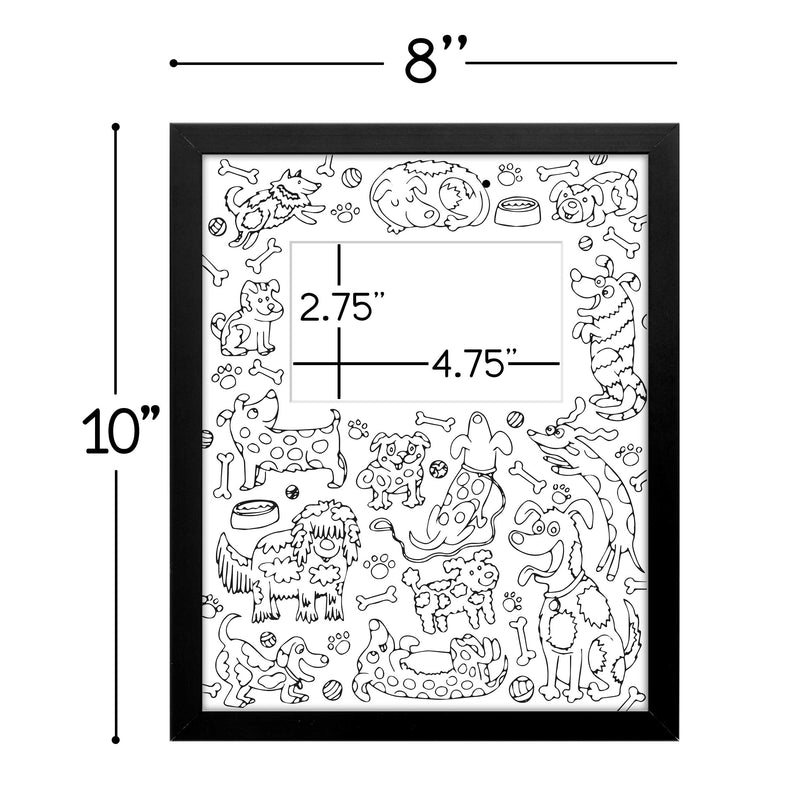 Coloring Matboard, Colored Pencils, & Picture Frame Kit