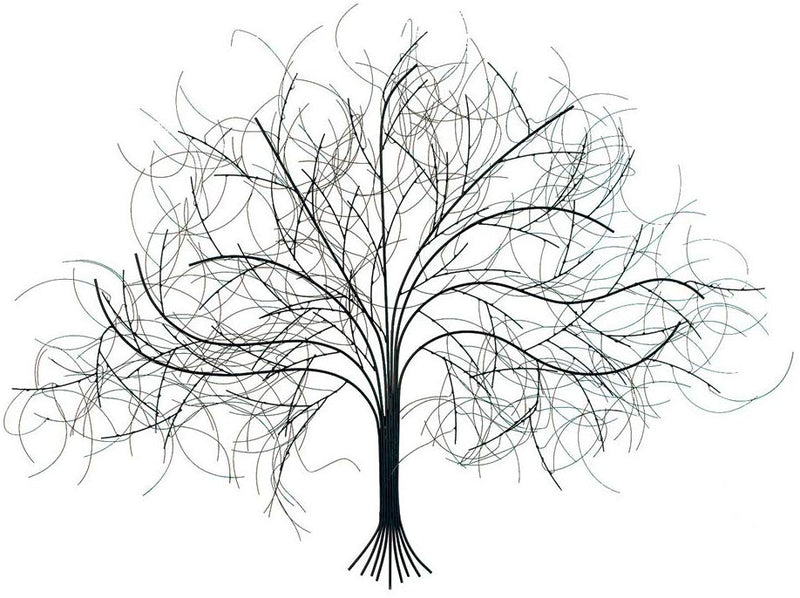 Black Tree Metal Wall Sculpture