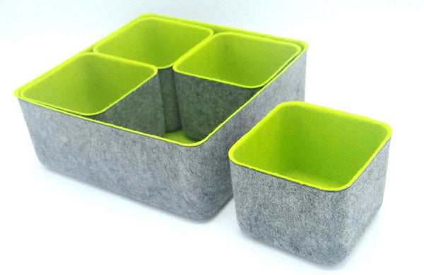Felt Bottom Organizers  - Set of 5