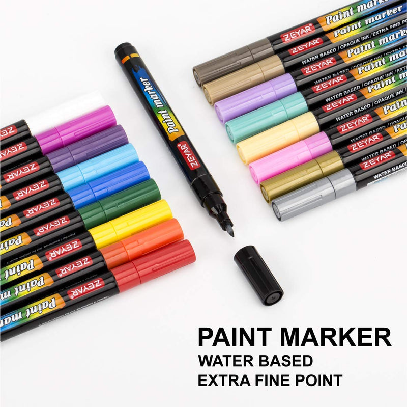 Professional Acrylic Paint Pens - Set of 18