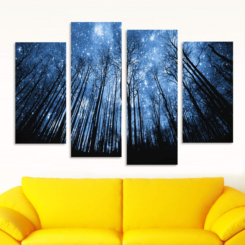 Star Forest on Canvas - 4 Panel
