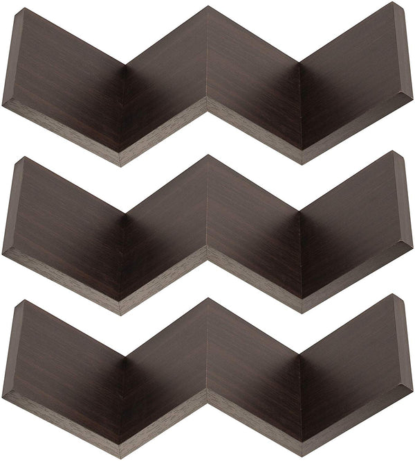 Zig Zag Floating Book Shelf - Set of 3