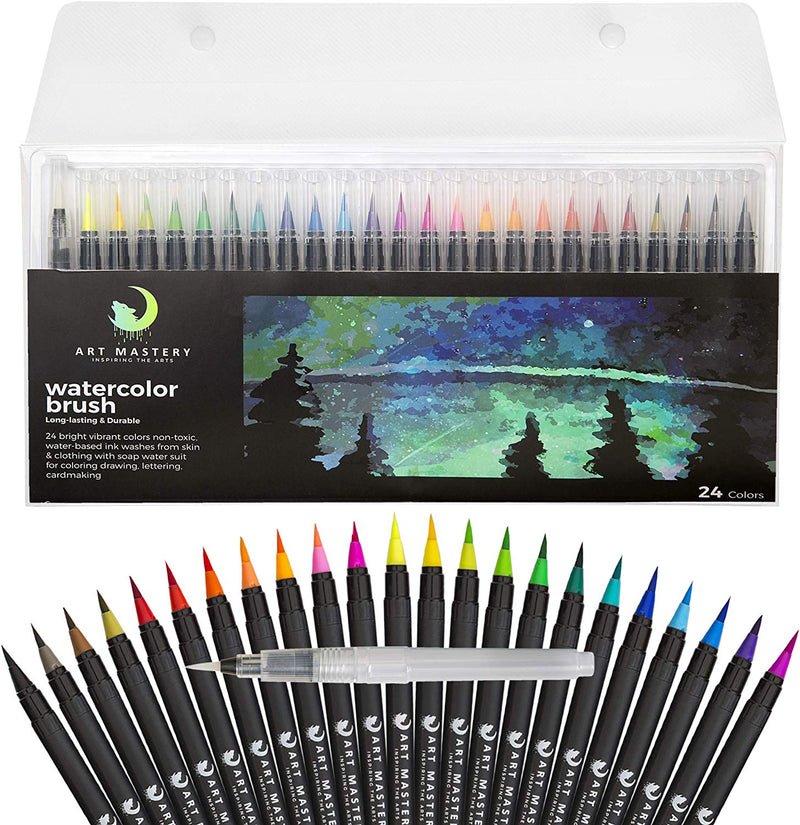 Watercolor Pens - Set of 24