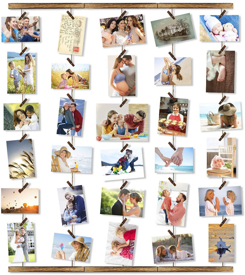 Clothesline Style Wall Photo Collage