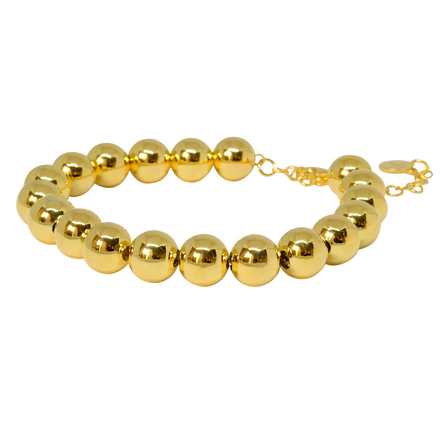 10mm Ball Bracelet - gold