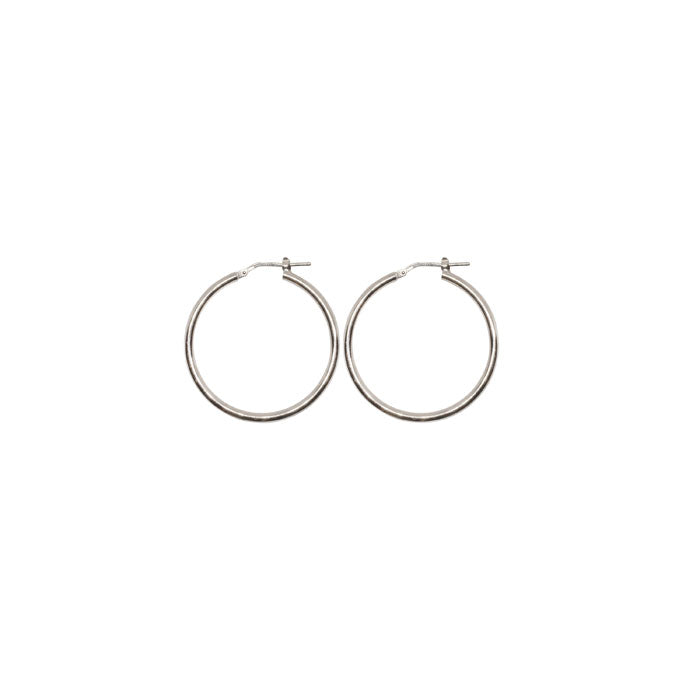 15 mm Sterling Silver Gypsy Hoop Earrings - Silver, Gold and Rose gold