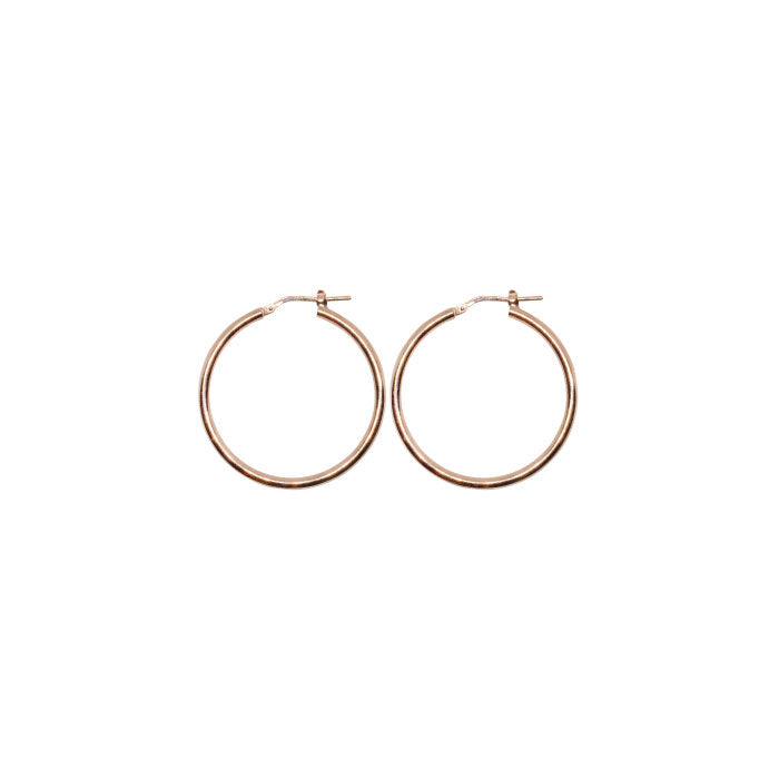 20mm Sterling Silver Gypsy Hoop Earrings - Silver, Gold and Rose gold