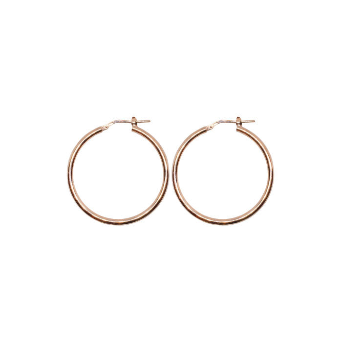 40mm Sterling Silver Gypsy Hoop Earrings - Silver, Gold and Rose gold